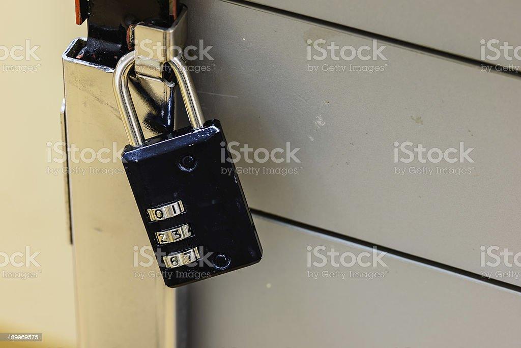 combination lock stock photo