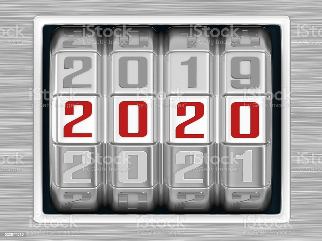 Combination Lock - Year 2020 foto royalty-free