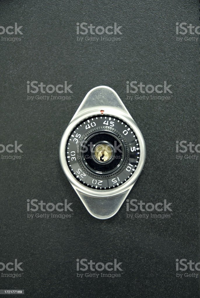 Combination Locking Cabinet stock photo