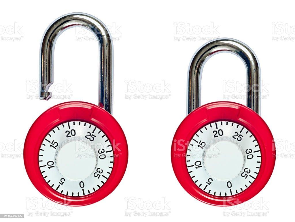 Combination Locks stock photo