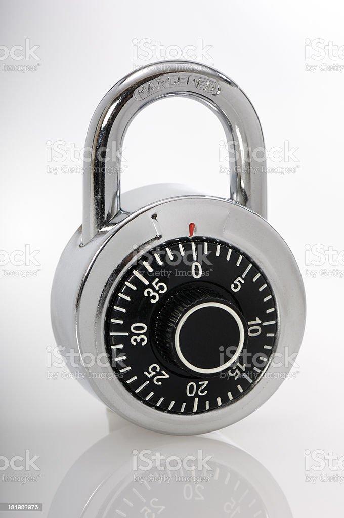 Combination/ numerical padlock stock photo