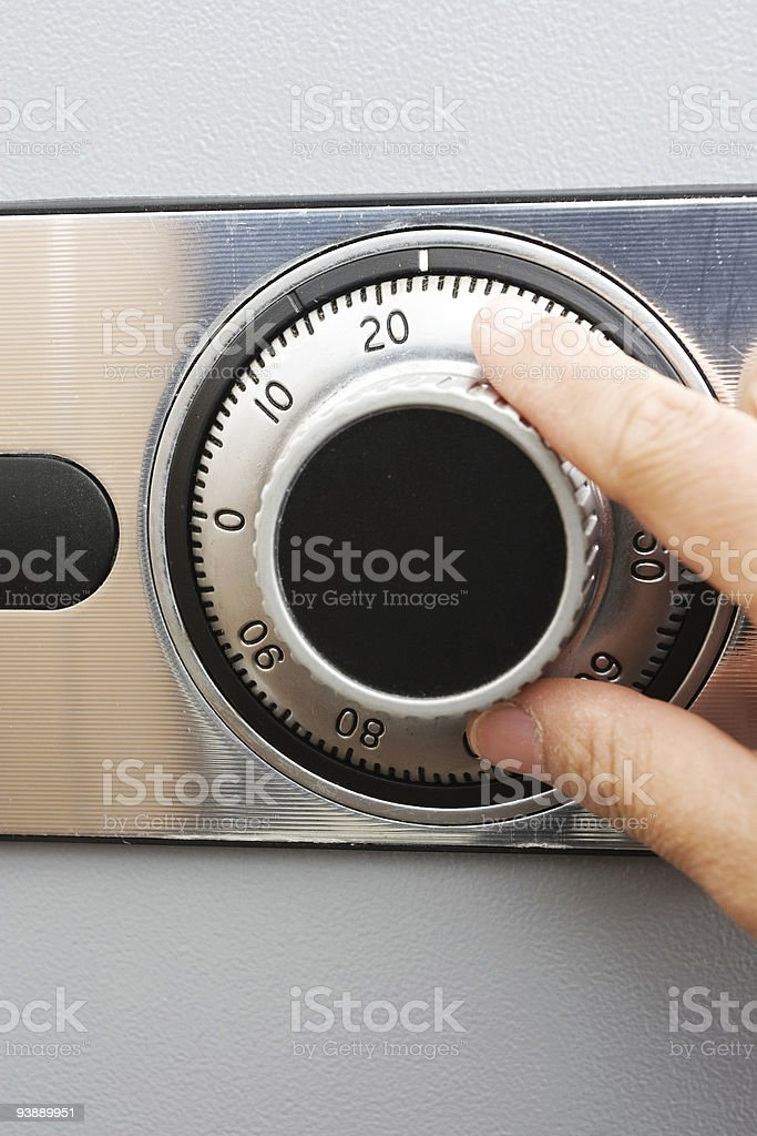 combination safe stock photo