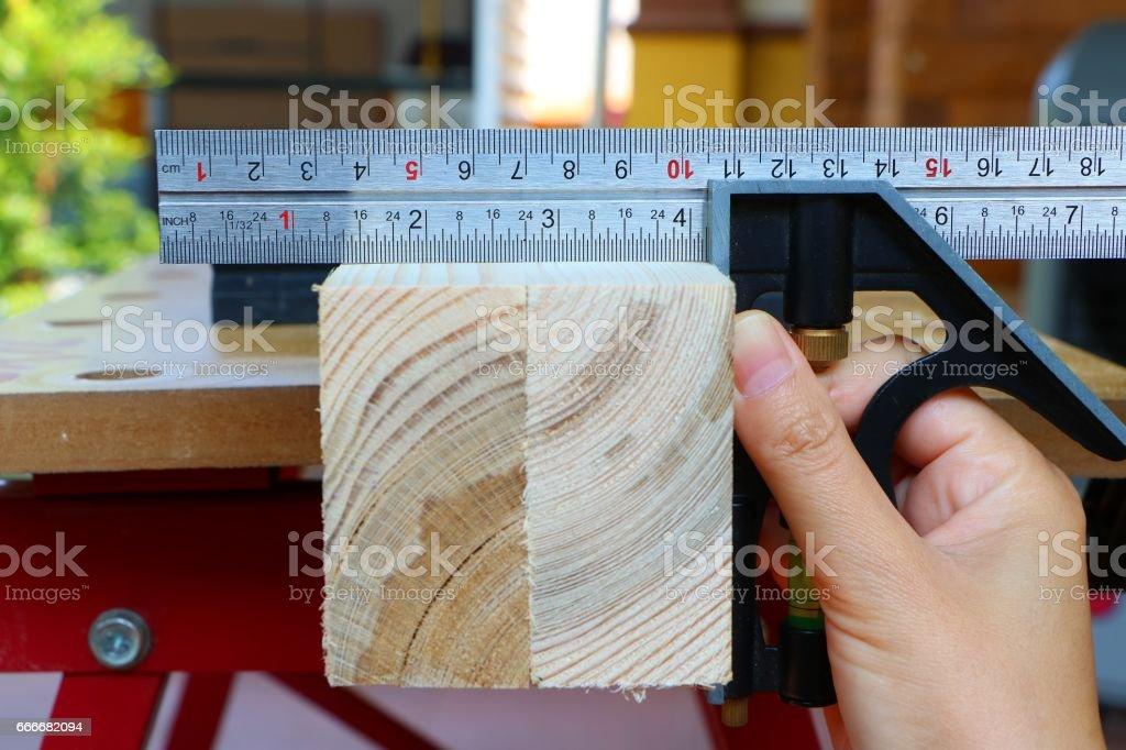 Combination square ruler stock photo