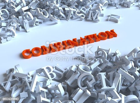 istock Combination word in alphabet concept 950405840