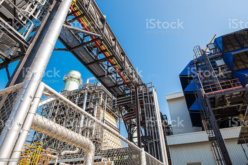 Combine cycle power plant stock photo