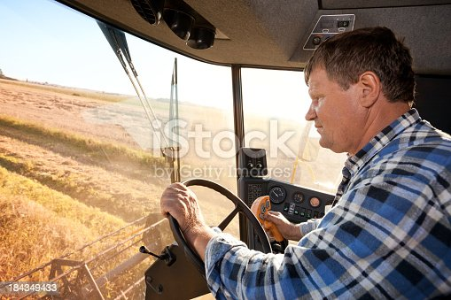 Combine Harvester driver