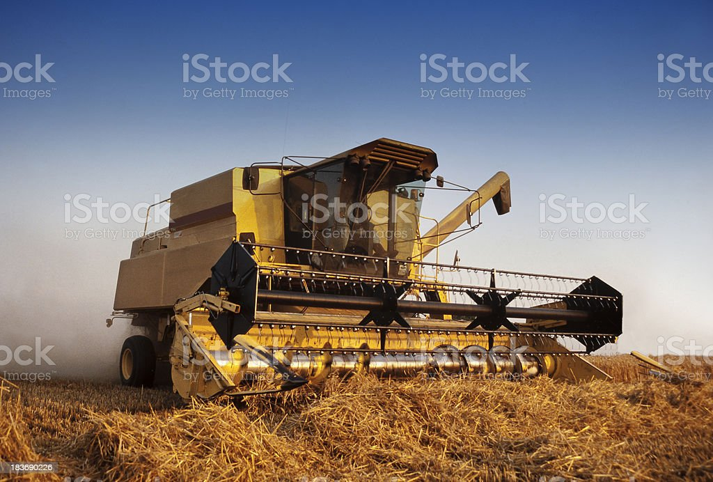 Combine harvester stock photo