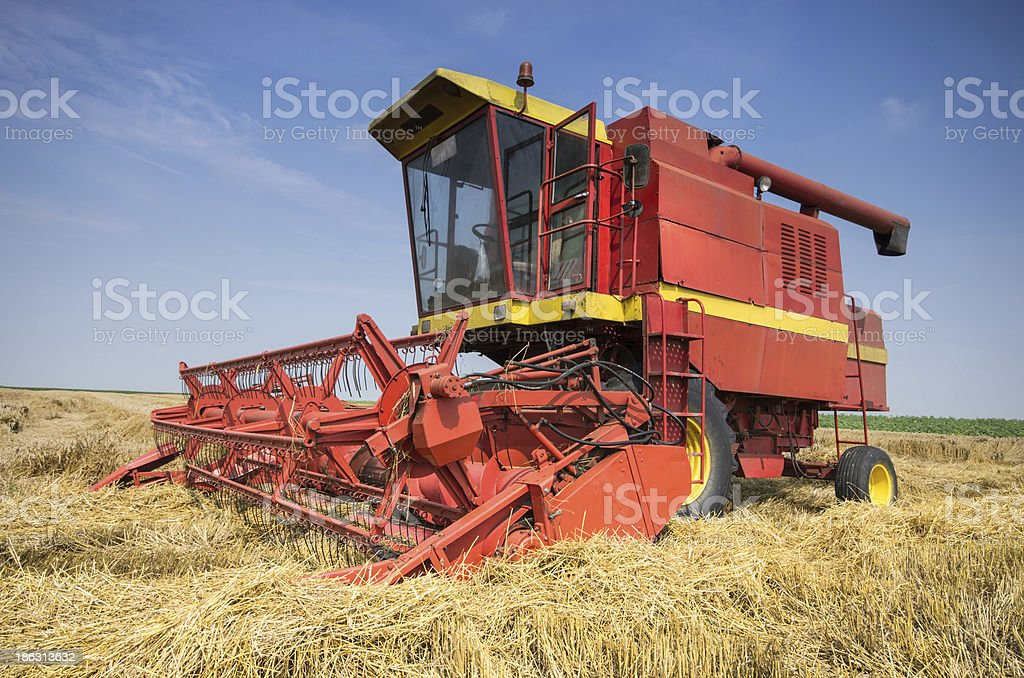 Combine working royalty-free stock photo