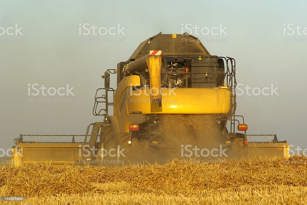 Combined Harvester royalty-free stock photo
