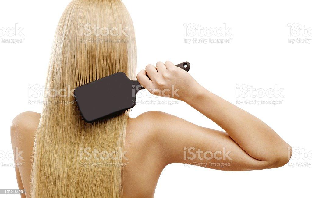 Combing stock photo