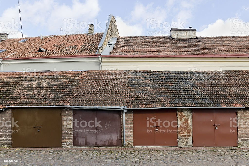 Combining progress and antiquity concept royalty-free stock photo