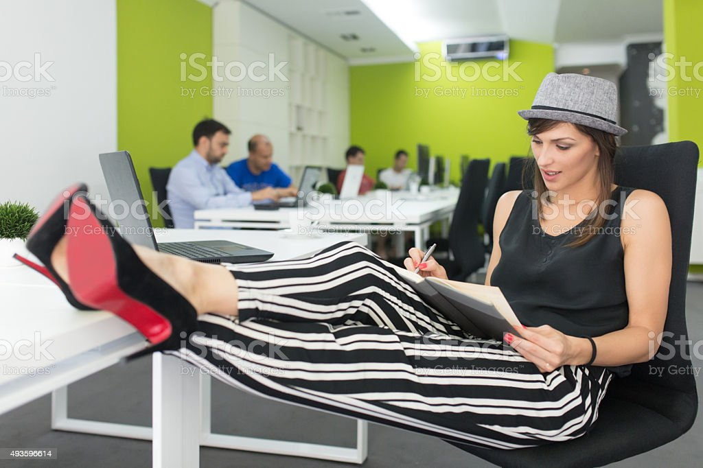 Combining Work And Pleasure stock photo