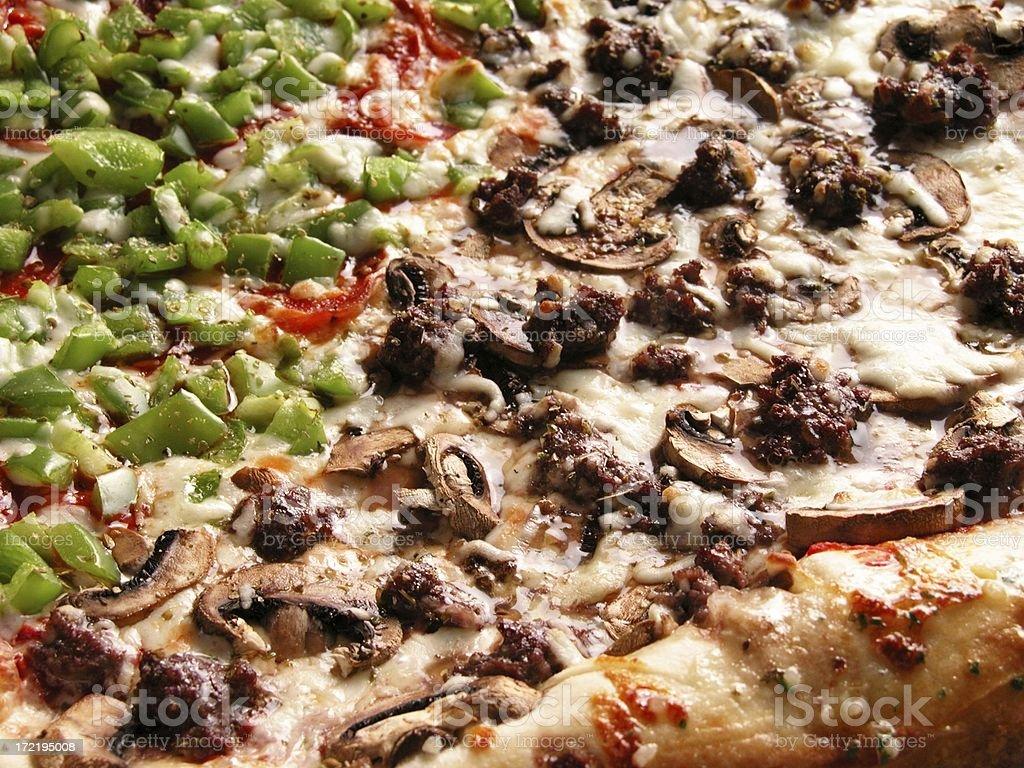Combo pizza loaded royalty-free stock photo
