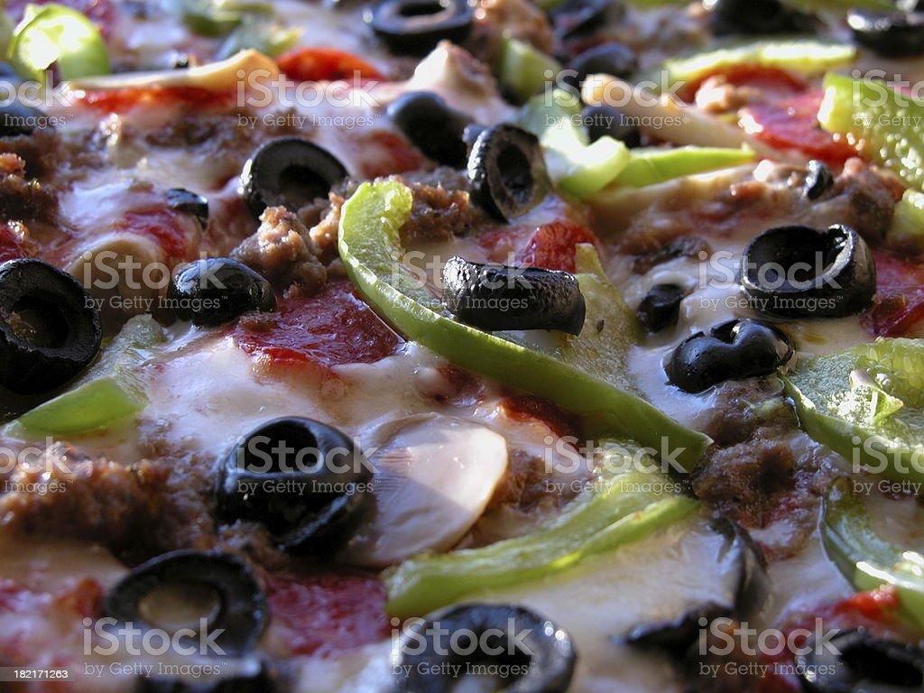 Combo Pizza macro royalty-free stock photo