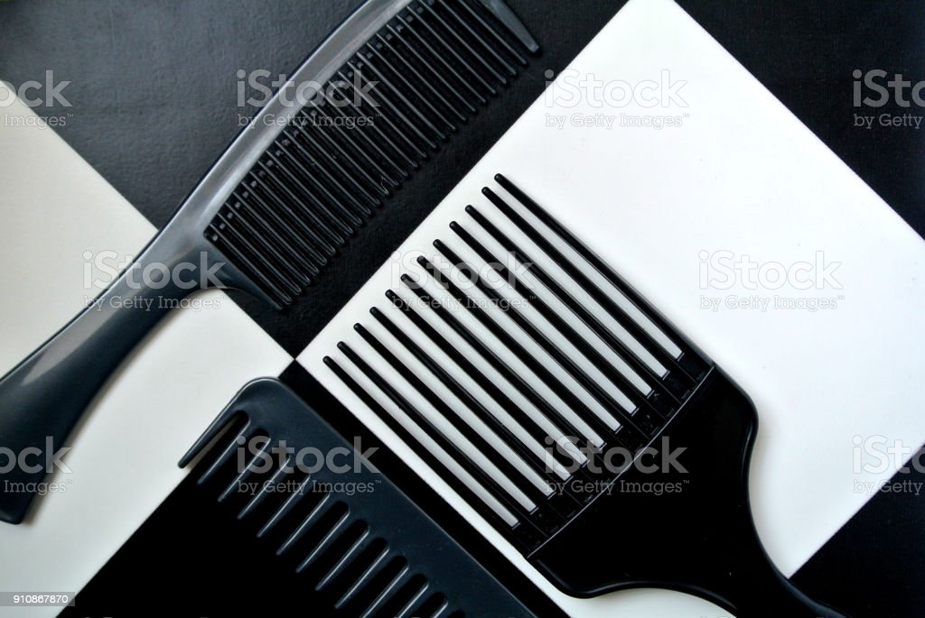combs set stock photo