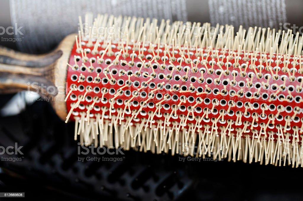 combs, tools, close-up stock photo