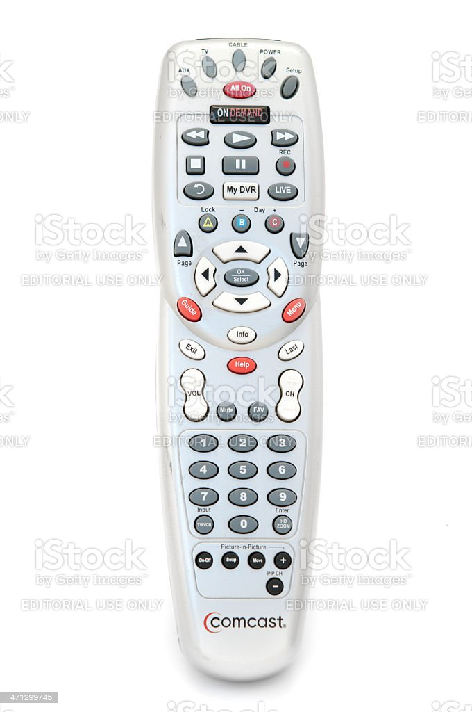 Comcast Cable Television Remote Isolated On White Stock Photo Download Image Now Istock