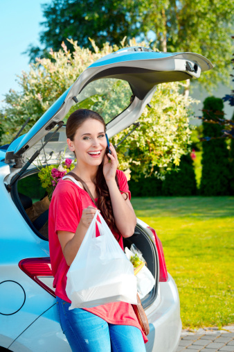Come Back From Shopping Stock Photo - Download Image Now