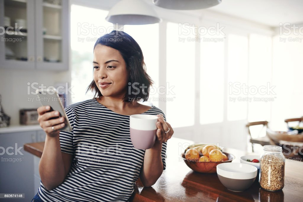 Come chill and have a cuppa with me stock photo