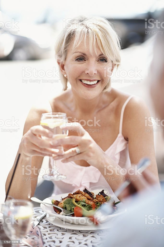 Come dine with me royalty-free stock photo