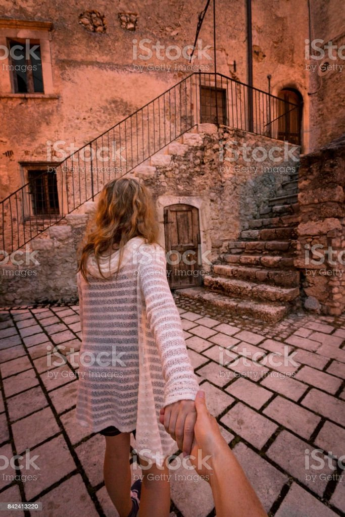 Come explore with me stock photo
