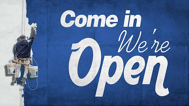 venga, abierto - gran inauguración fotografías e imágenes de stock