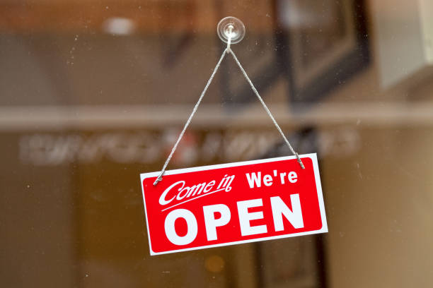 come in, we're open - open sign stock pictures, royalty-free photos & images