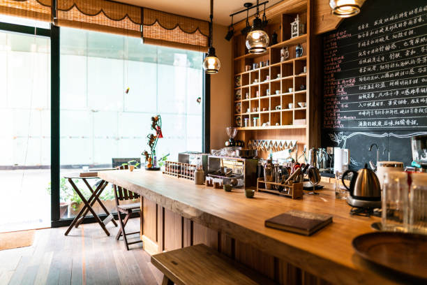 kommen sie zu uns für einen kaffee - cafe stock-fotos und bilder
