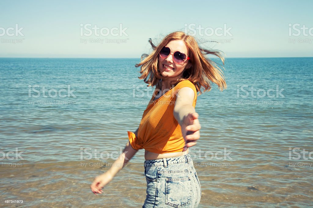 Come swimming with me stock photo