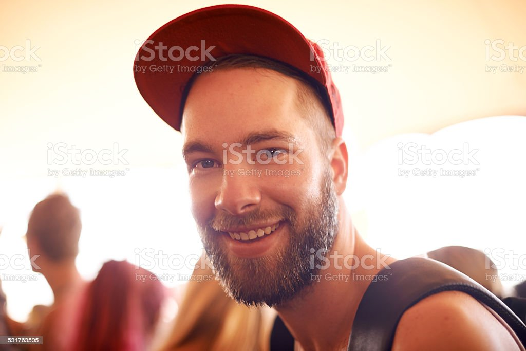 I come to this festival every year stock photo