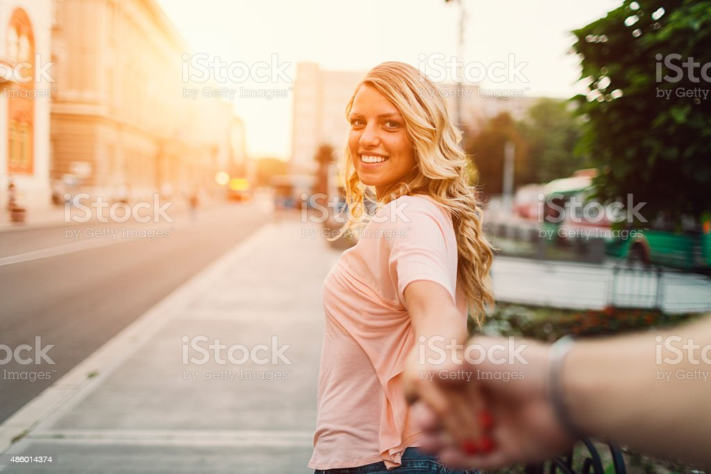 Come With Me. stock photo