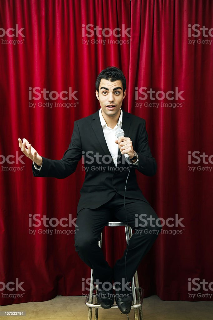 Comedian stock photo