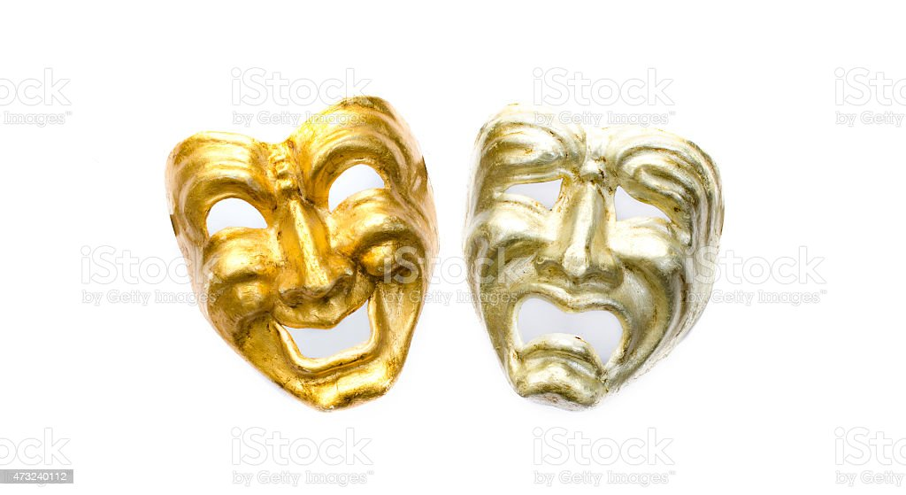 Comedy and Tragedy masks stock photo