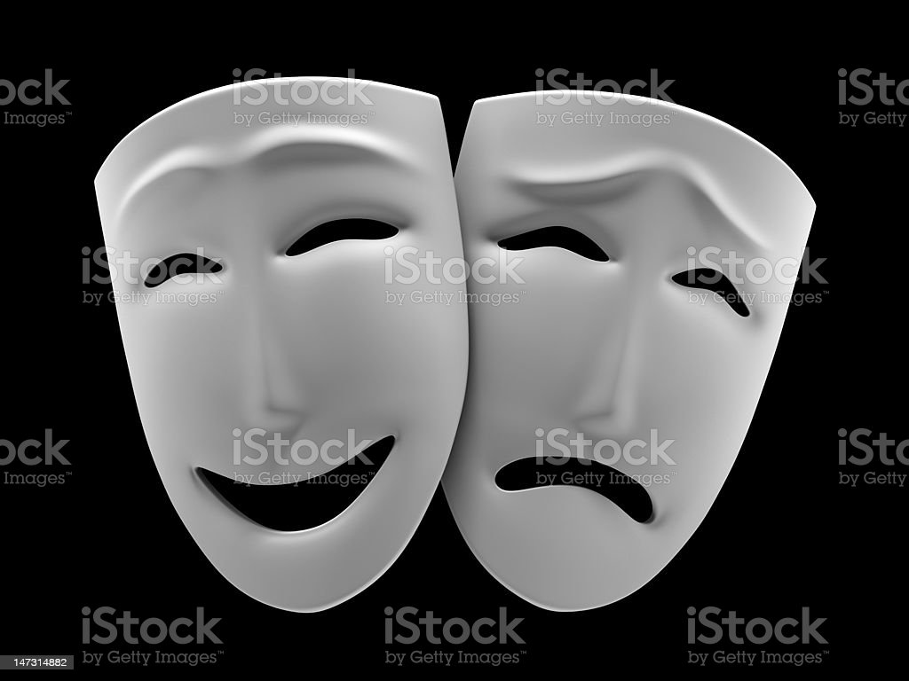Comedy and tragedy stock photo