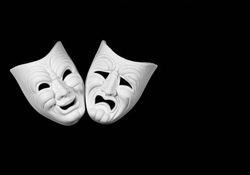 istock comedy and tragedy theatre mask 1050839776