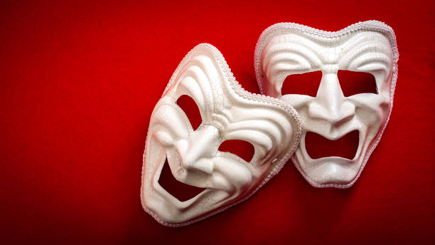 Comedy and Tragedy theatrical masks - foto stock