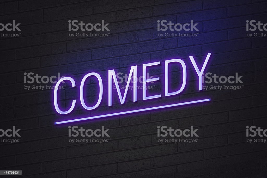 Comedy concept neon sign stock photo