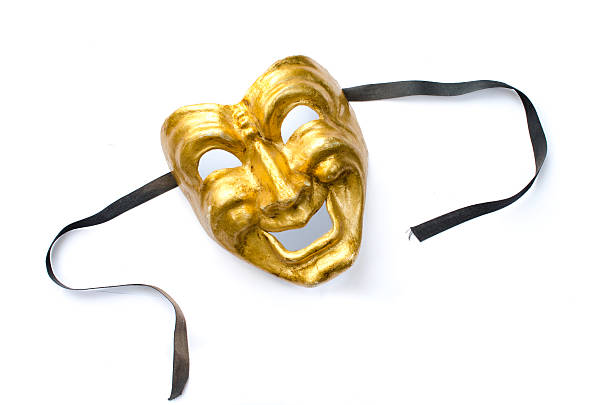 Comedy mask isolated on white stock photo