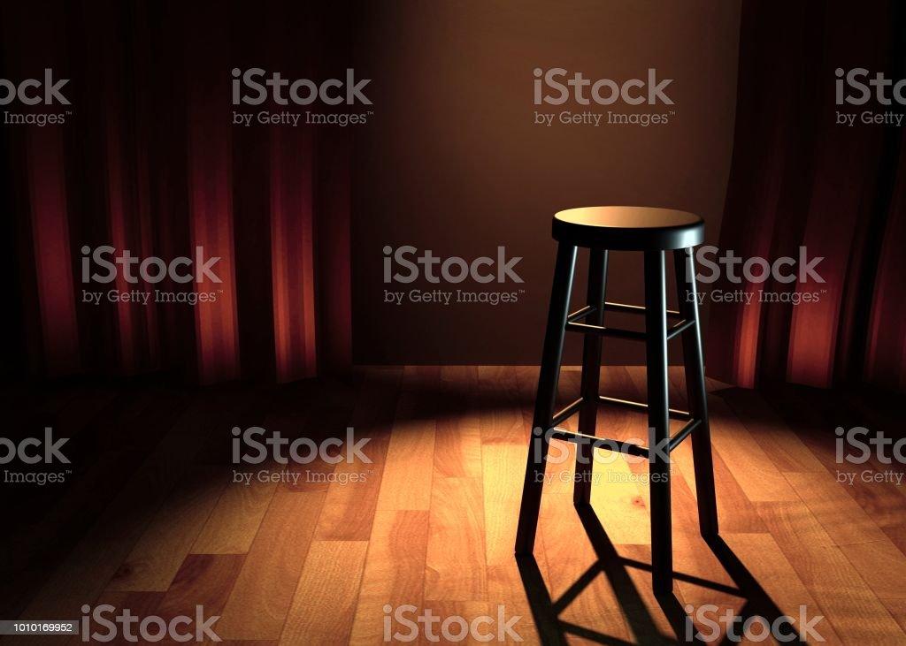 ilustração 3d do palco comédia foto de stock royalty-free