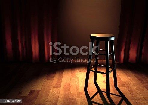 comedy stage 3d illustration