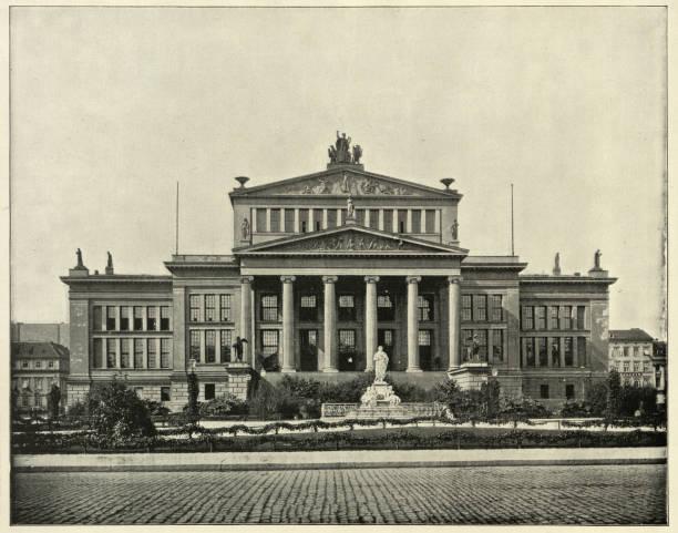 Comedy Theatre, Schiller Platz, Berlin, Germany, 19th Century stock photo