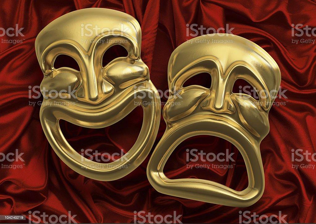 Comedy Tragedy Masks stock photo