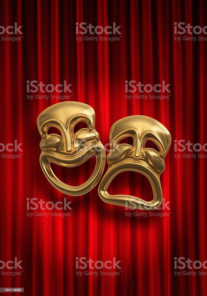 Comedy Tragedy stock photo