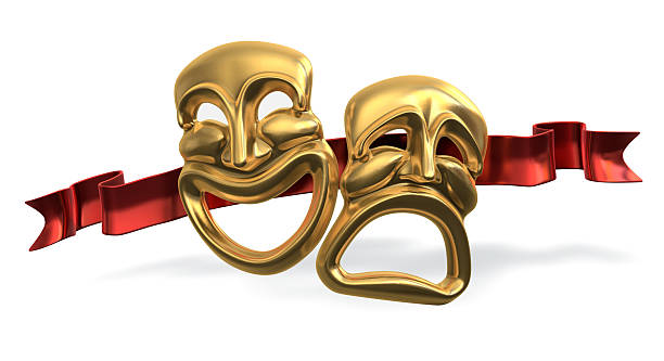 comedy tragedy - tragedy mask stock photos and pictures