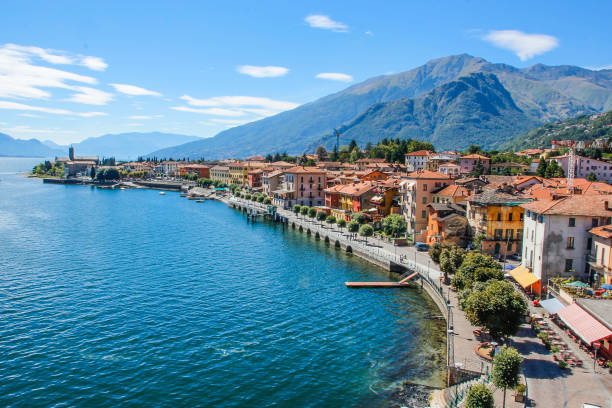 comer see - lake como stock photos and pictures