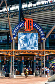 Detroit, MI, USA - July 16, 2006: Comerica Park ball park stadium on Woodward Ave in downtown Detroit Michigan
