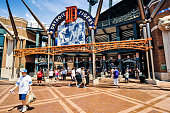 Detroit, MI, USA - July 16, 2006: Comerica Park baseball park stadium on Woodward Ave in downtown Detroit Michigan