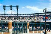 Detroit, MI, USA - July 16, 2006:: Comerica Park baseball park stadium on Woodward Ave in downtown Detroit Michigan