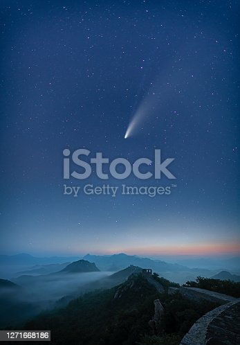 Comet Neowise A very rare astronomical event - a spectacular sight streaking across the skies over the China and around the world. Comet Neowise - officially called C/2020 F3
