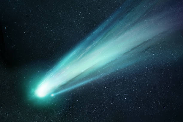 Comet Neowise Close Up Passing The Sun stock photo